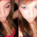 pink and black evening make up