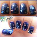 Winter glitter nails