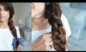 How To: Easy Four Strand Braid Hairstyle