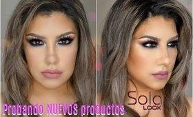 Maquillaje PROBANDO cosmeticos de SOLA LOOK / First impressions of Sola Look | auroramakeup