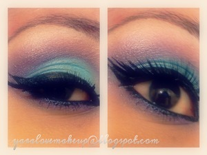 Eye makeup look