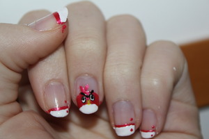 This idea is not mine! I found nails who look like thak on youtube and made similar nails :P