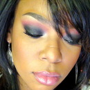 Sultry Black & Pink Smokey eye