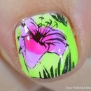 Lead light floral stamping