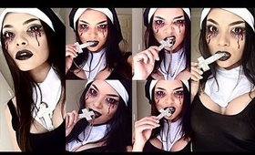 *Halloween* Evil Possessed Nun / Sexy Demon Chick Makeup Tutorial