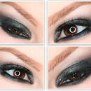 New Years Makeup#2. Shimmery Smokey Eye Tutorial.