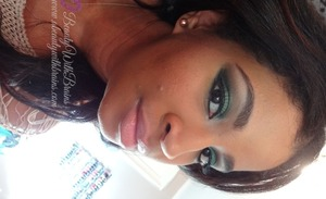 keeps uploading sideways.. sorry :/. Pantone declared Emerald Green the color for 2013, a great going out look using green.