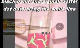 Simple fun bright Summer Nail Art Tutorial