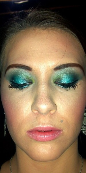 A Blue and Green look