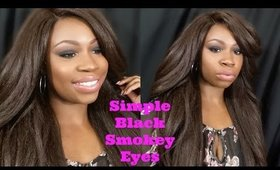 Simple Black Smokey Eye and Nude Pinky Lips