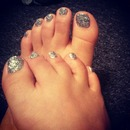 Glitter toes:)