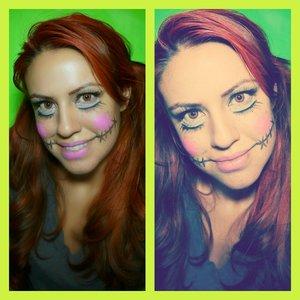 A fun Halloween makeup look. Follow me on instagram @moniquerachel27