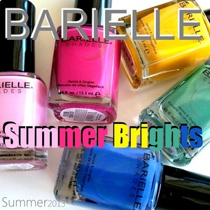 Review & Swatches: http://www.beautybykrystal.com/2013/04/barielle-summer-brights-2013.html