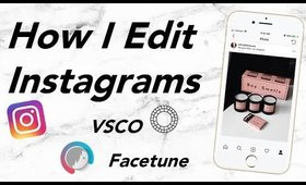 How I Edit Beauty & Lifestyle Photos for Instagram on VSCO & Facetune | Olivia Frescura