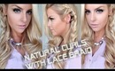 Natural Curls with a Lace Side Braid Hair Tutorial
