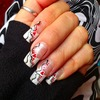 Abstract valentine's day Heart Nails