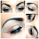Blue brown winged liner