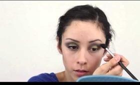 Green and Brown Eyeshadow Makeup Tutorial