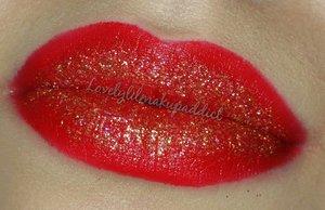 "Rimmed London lipstick ""Kiss of Life 111* Coastal Scents gold glitter ""Gold Medallion""  @lovelylilmakupaddict lovelylilmakupaddict.blogspot.com"