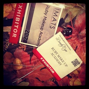 My two badges for IMATS & Beauty Expo
