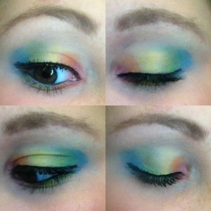 I was playing around with some of my makeup and this is what I came up with