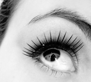 Playing with lashes.