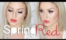 Chit Chat GRWM ♡ Spring/Summer Dramatic Red Lip Look!