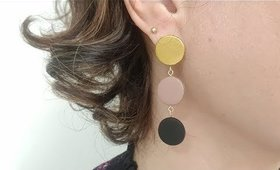 DIY Minimalist Drop Earrings