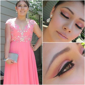 Her Prom makeup was a success! (: