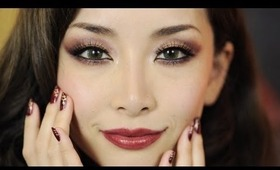 Oriental Holiday Look Makeup+Nails