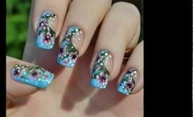 Another Floral summer nail art tutorial