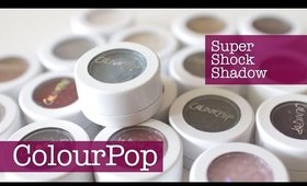 ColourPop Super Shock Shadow Swatches ♥ 17 colors