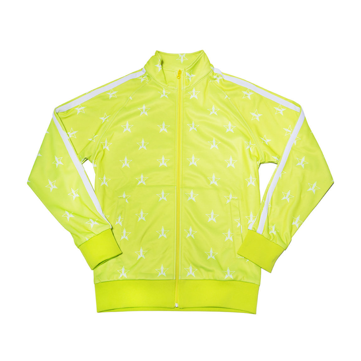 Jeffree Star Cosmetics Chartreuse Track Jacket Small product smear.