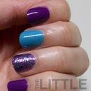 Simple Glittery Mani
