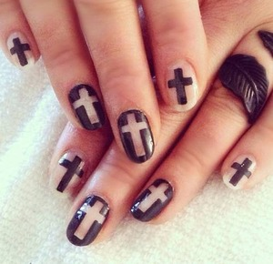 He died for us! I love these nails so much! <3