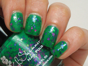 KBShimmer The Dancing Green from the Summer 2013 Collection. Fore more information please visit my blog post: http://www.lacquermesilly.com/2013/06/20/kbshimmer-summer-2013-review/