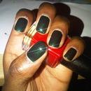 Very dark green