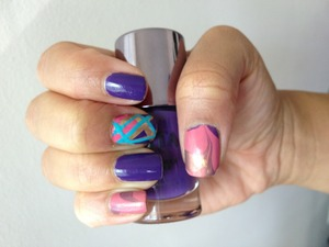Water marbling & Free hand painting!