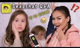SNAPCHAT Q&A - SIBLINGS, RELIGION, LIFE GOALS | Maryam Maquillage
