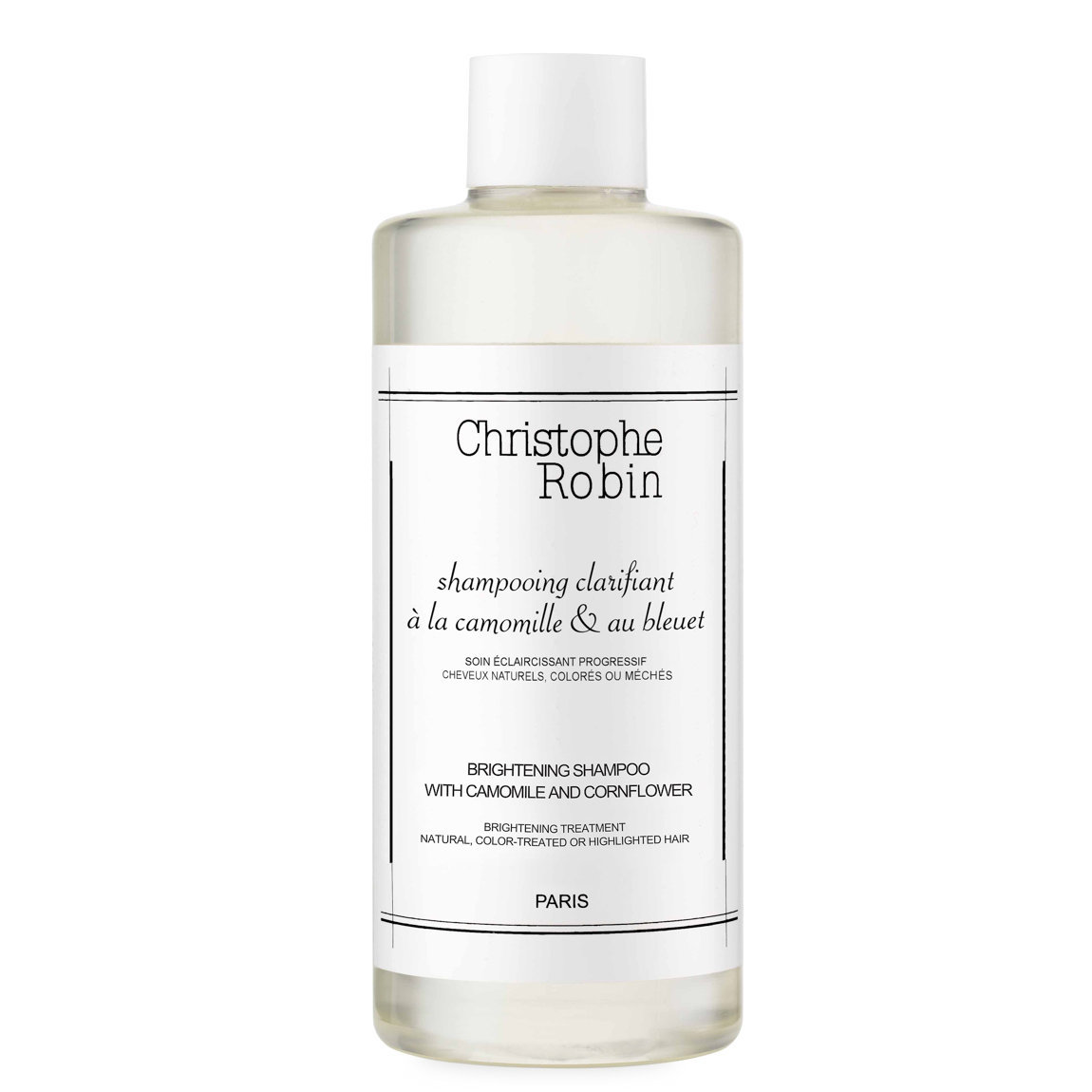 Christophe Robin Brightening Shampoo with Chamomile and Cornflower alternative view 1 - product swatch.