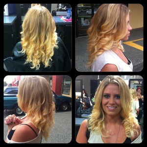 Ombré with a light  baylagé, and gorgeous blowout