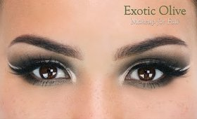 Exotic Olive Eye Makeup for Fall
