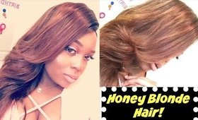 How To Dye Your Weave Honey Blonde The EASY Way!! DIY