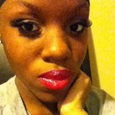 trying some color on my lips