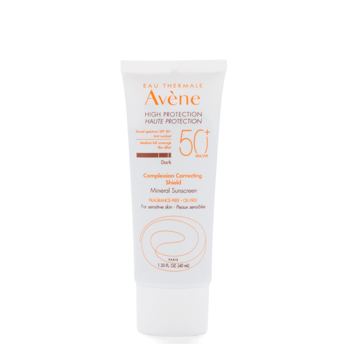 Eau Thermale Avène Mineral Complexion Correcting Shield SPF 50+ Dark product swatch.
