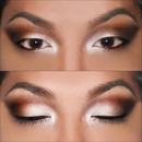 Shimmering Champagne & Warm Brown Look (Without Lashes)