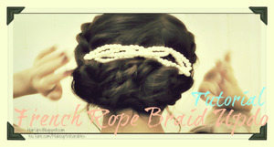 Quick & Easy Hairstyles Hair Tutorial | Learn how to do a French Rope Braid Twist Updo for medium long hair for everyday look and formal occasion, like a wedding. http://www.makeupwearables.com/2012/12/how-to-french-rope-braid-twist.html