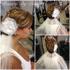 Bridal updo by myself