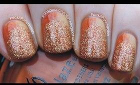 Gradient and Glitter Ruffian Nail Art Tutorial