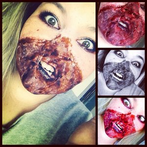 blood, gore, latex, molds, ect.